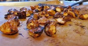 caramelized turnips with ancho-spice honey glaze